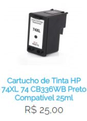 Cartucho de Tinta HP 74XL