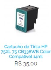 Cartucho de Tinta HP 75XL